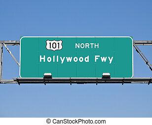Hollywood Freeway Sign
