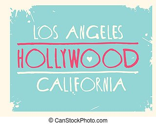 hollywood graphic design vector art.