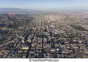 Hollywood Hazy Afternoon Aerial