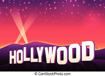 Hollywood Hills - Hollywood hills iconic hollywood movie...
