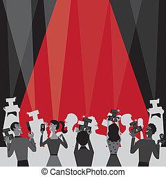 hollywood, película, premio, fiesta, invitar