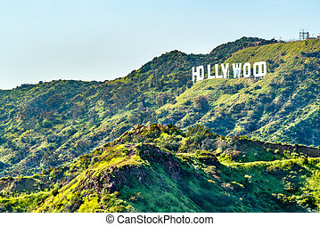 Hollywood Sign on Mount Lee in Los Angeles, California