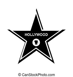 Hollywood star icon, simple style