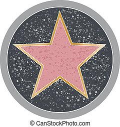 Reminiscent of a Hollywood sidewalk star.