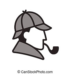 holmes, profiel, sherlock, logo