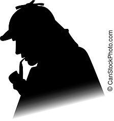 holmes, silhouette, sherlock