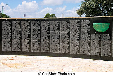 Holocaust memorial wall