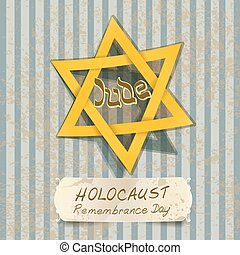 holocaust remembrance day illustration with Star of David. vector
