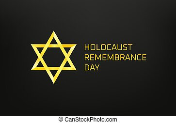 Holocaust remembrance day vector concept. Yellow star