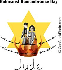 Holocaust Remembrance Day. Vector illustration on isolated background