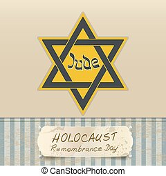 holocaust remembrance day with Star of David