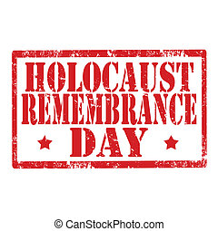 Grunge rubber stamp with text Holocaust Remembrance Day, vector illustration