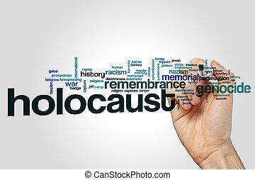 Holocaust word cloud concept