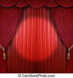 holofotes, em, a, concert salão