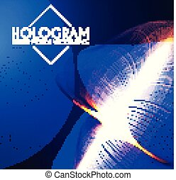 Hologram. Abstract Background with Motion Lights. Shining Space.