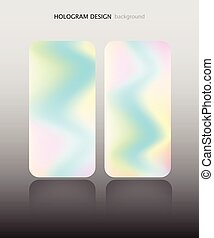 Hologram abstract pattern set vector