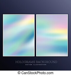 hologram background with soft pastel colors