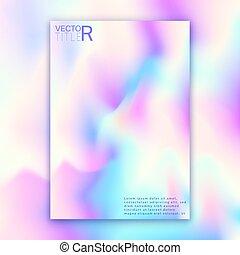 Hologram bright colorful background. Modern design for...