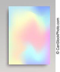 Hologram gradient backdrop