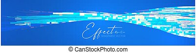 Hologram motion striped light effect with fluid color. Abstract shining wave background. Magic screen design.
