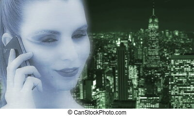 Hologram of a woman