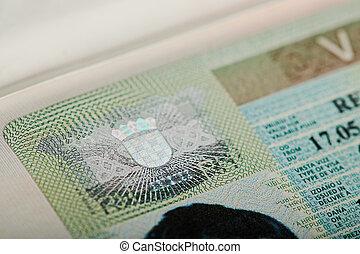 Hologram on croatia visa