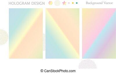 Hologram texture set vector hipster - Hologram texture set...