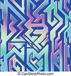 holograma, patrón geométrico