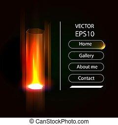 hologramme, technologie, concept, avenir, vector., technology., illustration