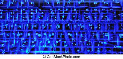 holographic, éclairé, clavier