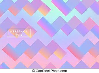 holographic, カラフルである, gradient., 背景, cover., レトロ, 背景