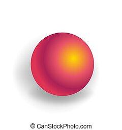 holographic, 勾配, -, 隔離された, 1(人・つ), 球, 形, ベクトル, 背景, 幾何学的, 白, 3d