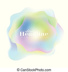 Holographic 80s, 90s abstract colorful retro background