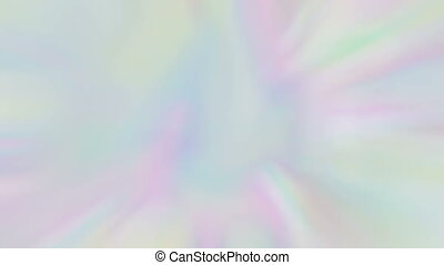 Holographic abstract live wallpaper. Rainbow-colored motion background