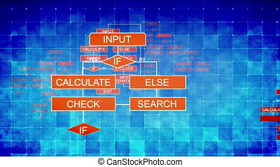 """"""" Holographic algorithms background with charts"""""""