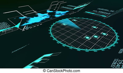 """Holographic animation of a whirling plane radar"" - ""A..."