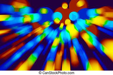 holographic, coloré, vitesse, motion., laser, vortex, prism...