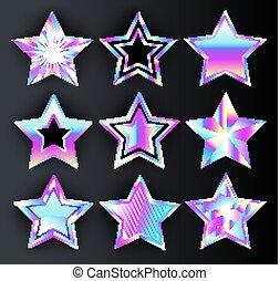 holographic, ensemble, étoiles