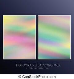 holographic, ensemble, fond
