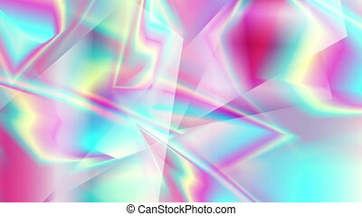 Holographic glass polygonal shapes abstract video animation...