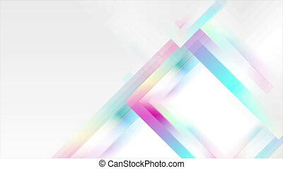 Holographic glossy geometric abstract tech motion background...