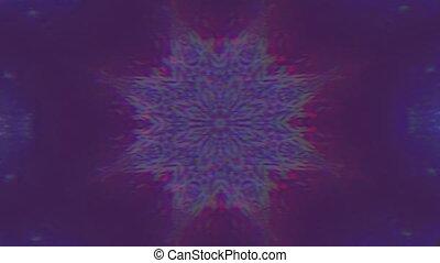 holographic, résumé, géométrique, arrière-plan., laleidoscope, psychédélique
