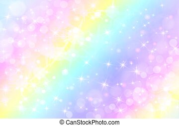 holographic vector illustration in pastel color galaxy fantasy background the pastel sky with drawing csp58177190