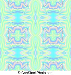 Holographic waves seamless pattern. Vector illustration