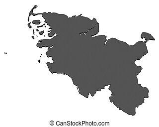 Holstein, mapa,  schleswig,  -, alemania