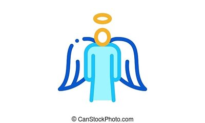 holy angel with wings Icon Animation