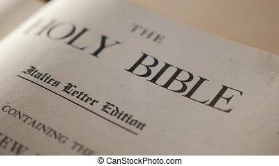 Holy Bible. Catholic sacred lifestyle religious book. Faith...