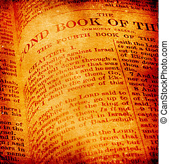 Holy Bible - Close up of old Holy bible book