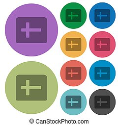 Holy bible darker flat icons on color round background