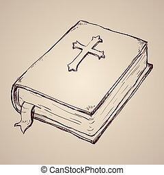 Holy bible design over beige background, vector illustration.